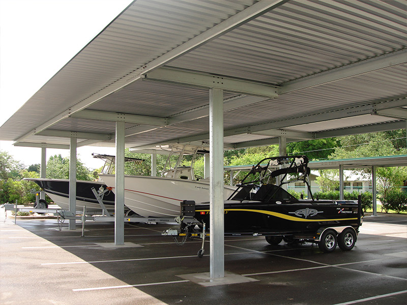 Canopies And Storage : Rv and boat storage canopy rapid building solutions